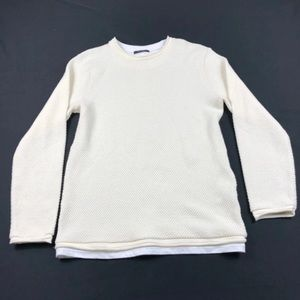 Zara man sweater pullover stretch beige